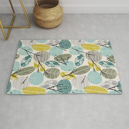 Minimalistic modern pattern with abstract leaves 2. Rug