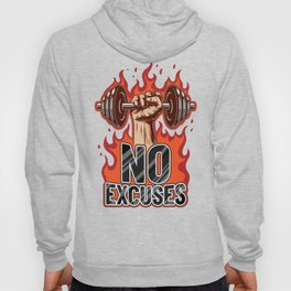 No Excuses | Training Workout Fitness Muscles Hoody