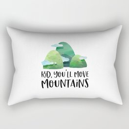 Kid You'll Move Mountains, Home Decor, Children Quote, Printable Art, Kids Gift Rectangular Pillow