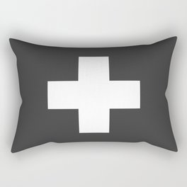 Swiss Cross Charcoal Rectangular Pillow