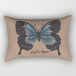 The Ulysses Butterfly - Papilio Ulysses Rectangular Pillow