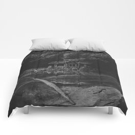 Cottage (Black and White) Comforters