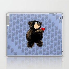 Teddy Bear Holding Heart Laptop & iPad Skin