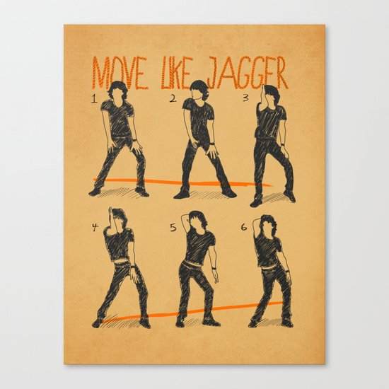Move Like Jagger (MOVE LIKE COLLECTION) Canvas Print