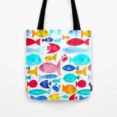 Fish Pattern - Ocean - Nautical - Sea - Swim - Crabs - Summer Tote Bag