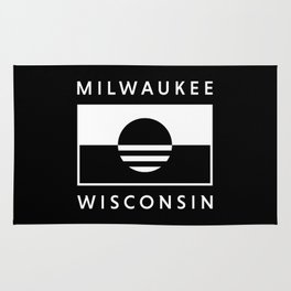Milwaukee Wisconsin - Black - People's Flag of Milwaukee Rug