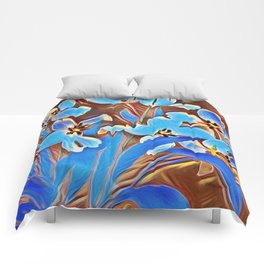 Painted Forget Me Nots Comforters