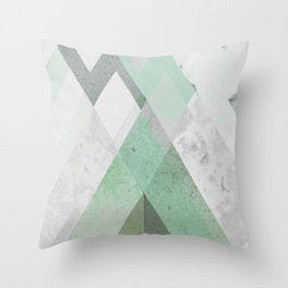 MINT TEAL GRAY CONCRETE abstract Throw Pillow