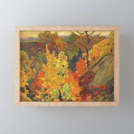 Canadian Landscape Oil Painting Franklin Carmichael Art Nouveau Post-Impressionism Autumn Framed Mini Art Print