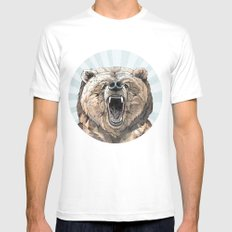 Grizzly Mens Fitted Tee MEDIUM White