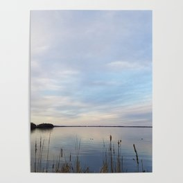 Twilight Serenity - Clouds and reflections on University Bay Poster