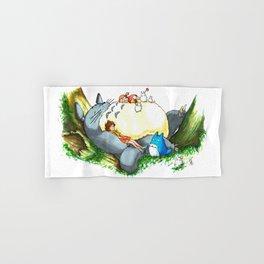 Ghibli forest illustration Hand & Bath Towel