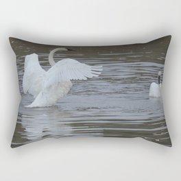 Trumpeter Swans - Alaska Rectangular Pillow