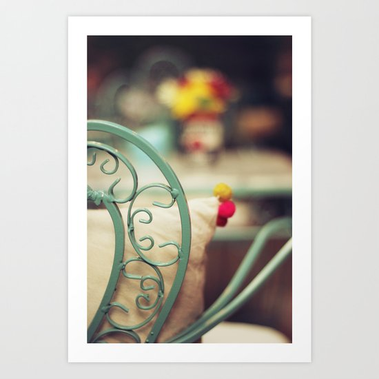 The chair and the pillow Art Print