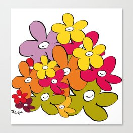 the power of the smiling flowers Canvas Print