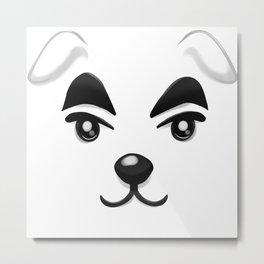 Animal Crossing KK Slider Metal Print