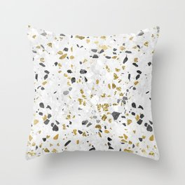 Glitter and Grit Throw Pillow