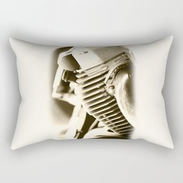 Motorbike engine close-up view Rectangular Pillow