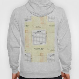 Library Book Date Due Card Hoody