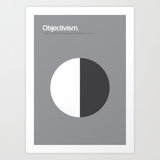 Objectivism Art Print