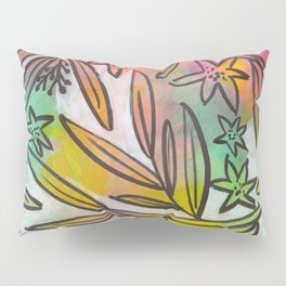 Bright Colorful Jungle Canopy Pillow Sham