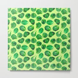 Brussel sprouts pattern for veggie lovers Metal Print