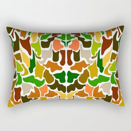 Autumn Camouflage Rectangular Pillow
