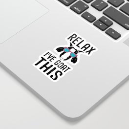 Relax I've Goat This - Distressed Design for Lovers of Goats Sticker