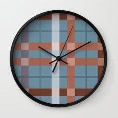 Urban Earth Tone Plaid  Wall Clock