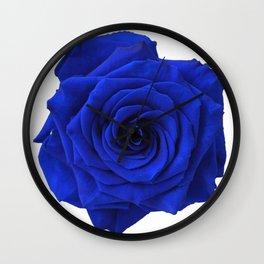 blue rose Wall Clock