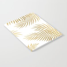 Gold palm leaves Notebook