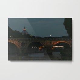 Bridges of Rome in the Evening Metal Print