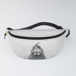 Chicken - Black & White Fanny Pack