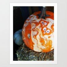 Pumpkin Bears Art Print