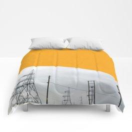 Orange Pylons Comforters