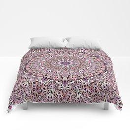 Pink Spiritual Garden Mandala Comforters