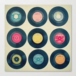 Vinyl Collection Canvas Print