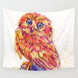 Caffeinated Owl Wall Tapestry