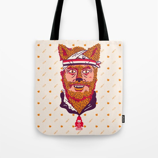 Crack Fox Tote Bag