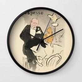 """Henri de Toulouse-Lautrec """"Sagesse"""" Wall Clock"""