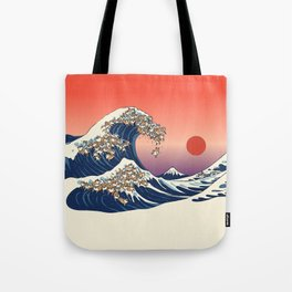 The Great Wave of Shiba Inu Tote Bag