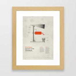 E for Edison Framed Art Print