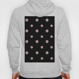 Happy Polka Dots Rose Gold on Black #1 #decor #art #society6 Hoody