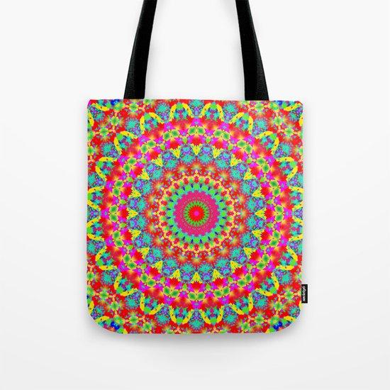 Kaleidoscope Vibrant Trippy Pattern Tote Bag