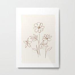 Soft Line Design 07 Metal Print
