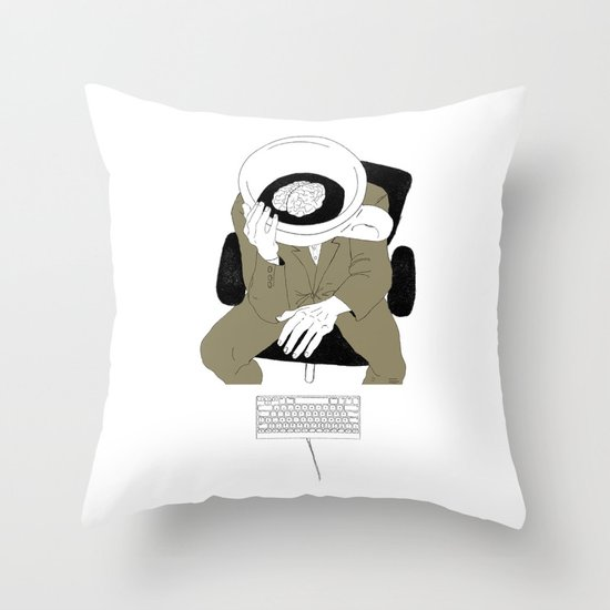 MORNING COFFEE IN THE OFFICE Throw Pillow