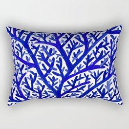 Fan Coral – Navy Rectangular Pillow