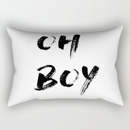 OH BOY Quote Rectangular Pillow