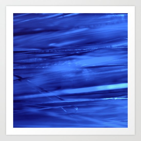 blue lines abstract I Art Print