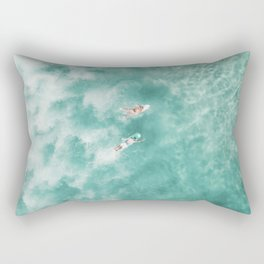 Surfing in the Ocean Rectangular Pillow